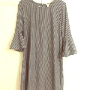 J Crew shift dress with flutter sleeves